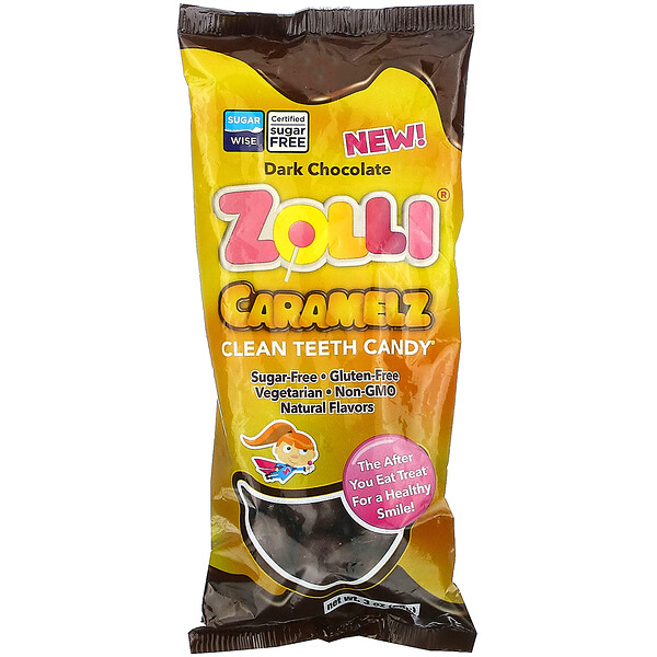Zolli Caramelz, Dark Chocolate, 3 oz (85 g)
