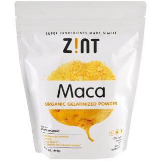 Z!NT, Maca, Organic Gelatinized Powder , 16 oz (454 g)