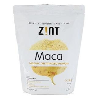Z!NT, Maca, Organic Gelatinized Powder, 16 oz (454 g)