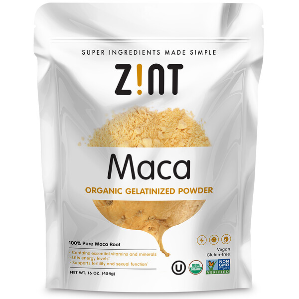 Zint, Maca, Organic Gelatinized Powder, 16 oz (454 g)