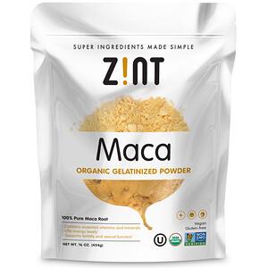 Зинт, Maca, Organic Gelatinized Powder, 16 oz (454 g) отзывы покупателей