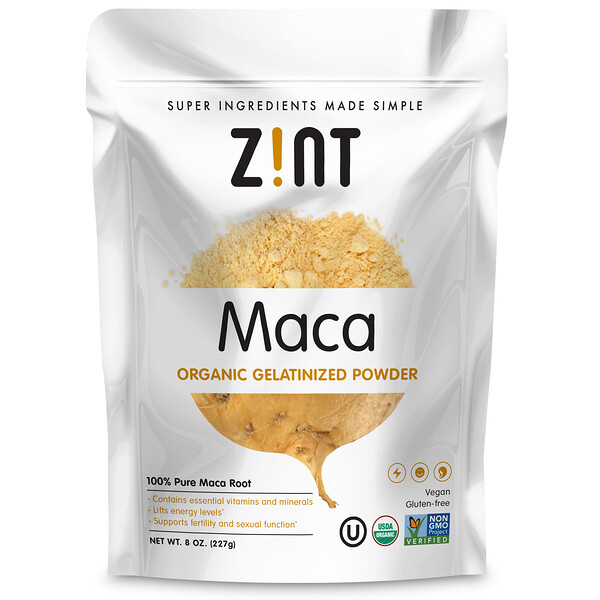 Zint, Maca, Organic Gelatinized Powder, 8 oz (227 g)
