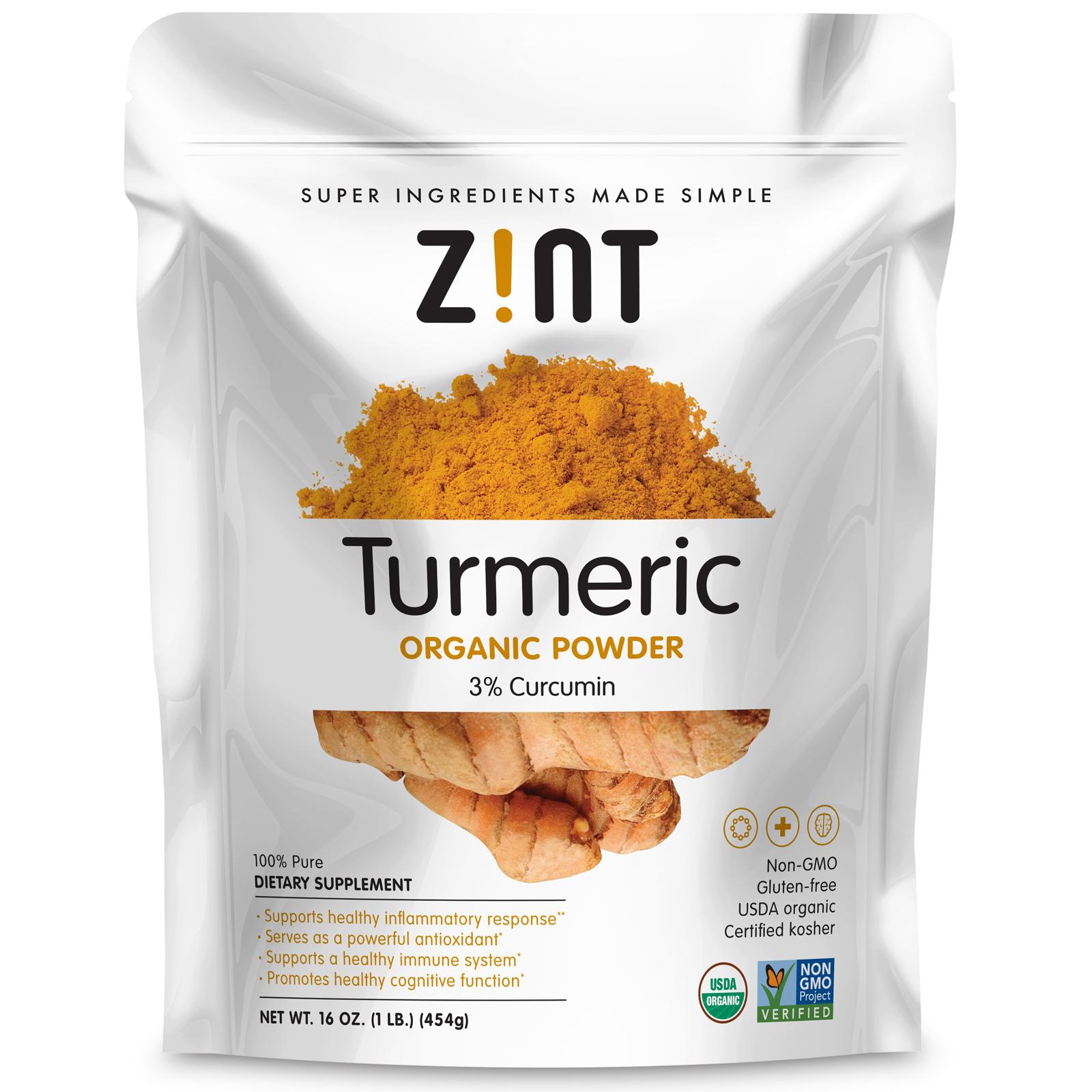 Zint, Organic, Turmeric Powder, 16 oz (454 g) - iHerb com