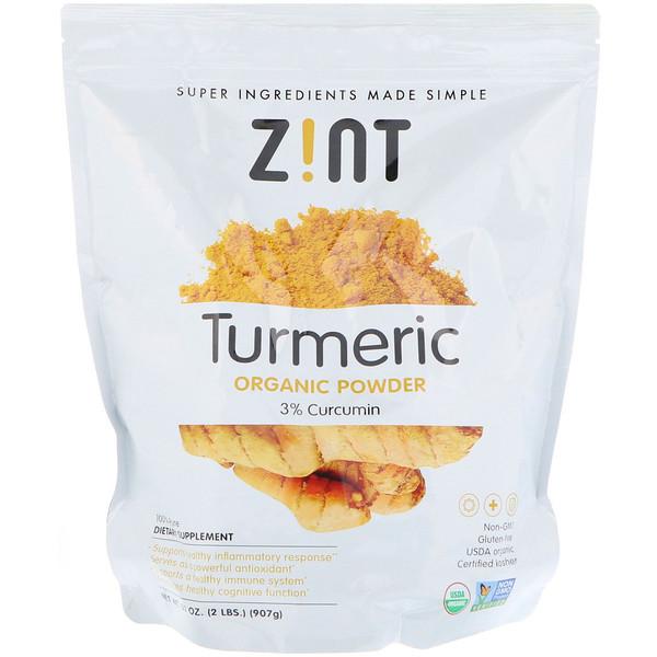 Zint, Orgánico, cúrcuma en polvo, 32 oz (907 g)