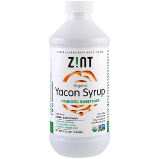 Z!NT, Organic Yacon Syrup, Prebiotic Sweetener , 8 fl oz (236 ml)