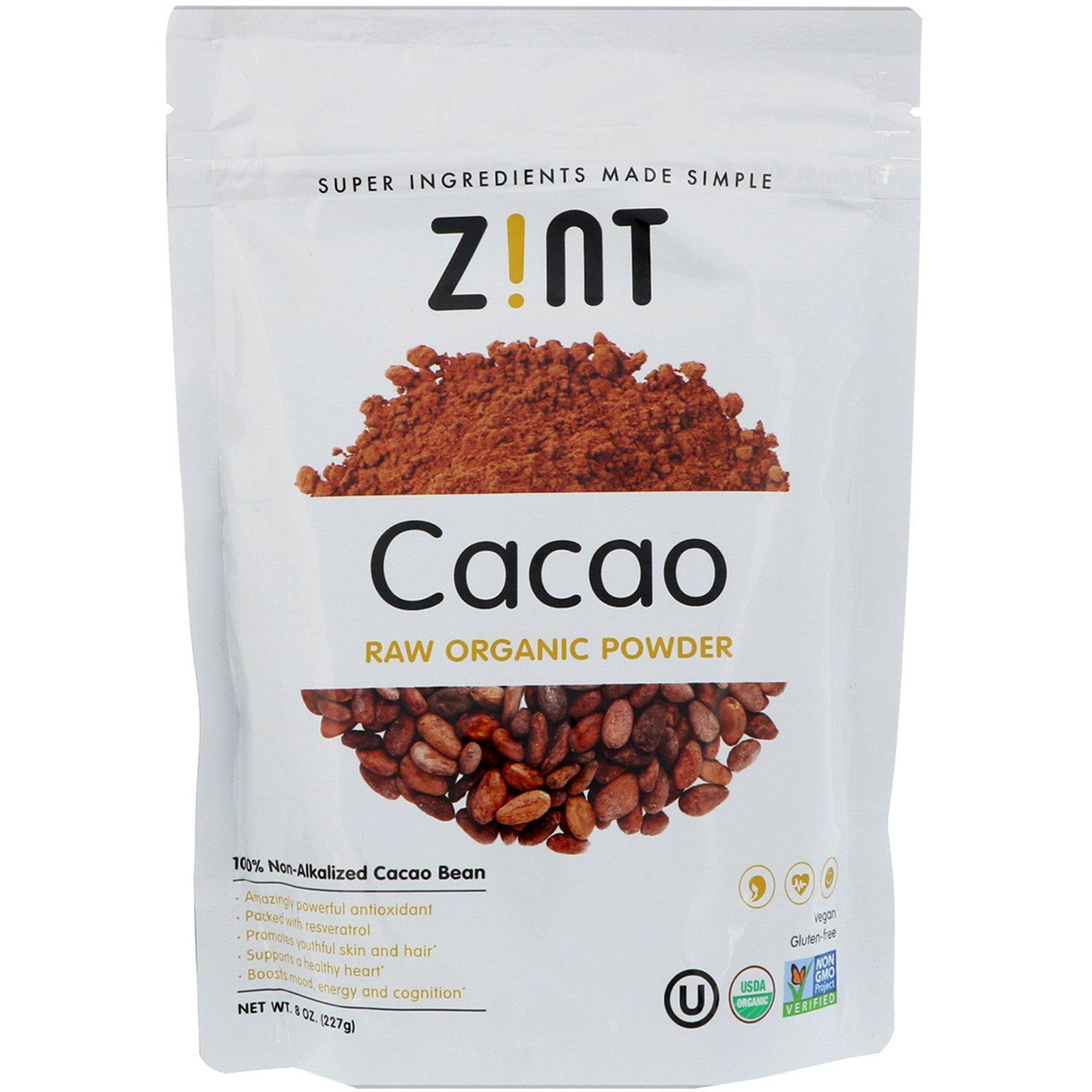 Z!NT, Cacao Raw Organic Powder, 8 oz (227 g)