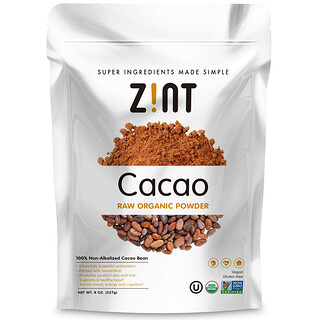 Zint, Raw Organic Cacao Powder, 8 oz (227 g)