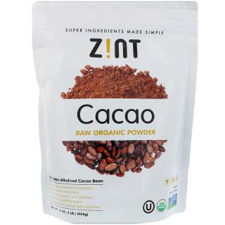 Z!NT, Raw Organic Cacao Powder, 16 oz (454 g)