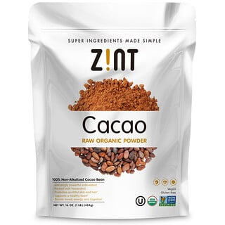Zint, Raw Organic Cacao Powder, 16 oz (454 g)