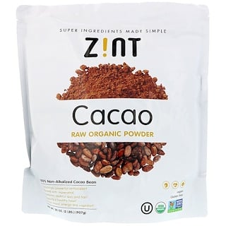 Z!NT, Cacao, Raw Organic Powder , 32 oz (907 g)