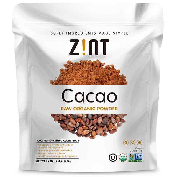 Zint, Raw Organic Cacao Powder, 32 oz (907 g)