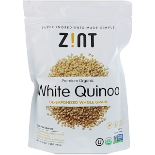 Z!NT, プレミアムオーガニック、ホワイトキノア、脱鹸化全粒、16 oz (454 g)