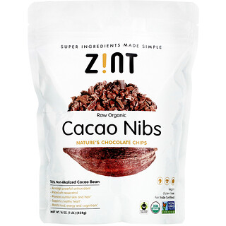 Zint, 有機生可可碎,16 盎司(454 克)