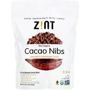 Зинт, Raw Organic Cacao Nibs, 16 oz (454 g) отзывы покупателей