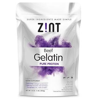 Z!NT, Beef Gelatin, Pure Protein, 16 oz (454 g)