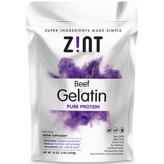 Zint, بيف جلوتين، بروتين صافى، 16 أوقية (454 غرام)