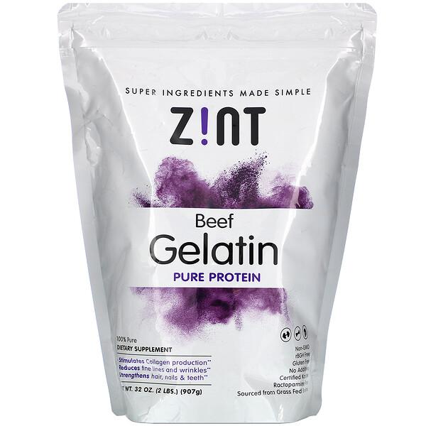 Beef Gelatin, Pure Protein, 32 oz (907 g)