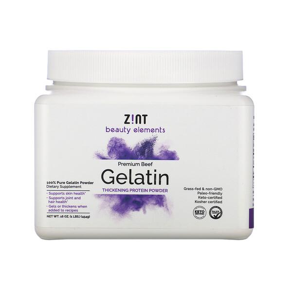 Premium Beef Gelatin, Thickening Protein Powder, 16 oz (454 g)