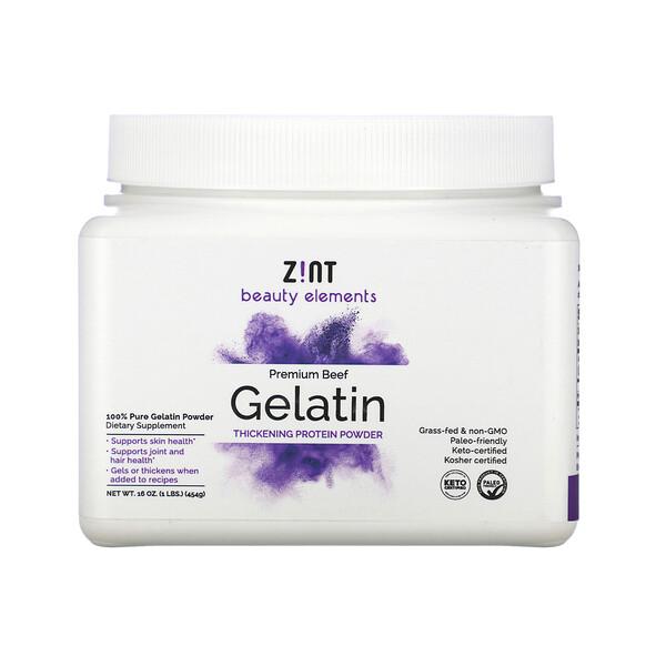 优质牛肉明胶,增稠蛋白质粉,16 盎司(454 克)