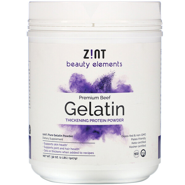 Grass-Fed Beef Gelatin, Thickening Protein Powder, 32 oz (907 g)