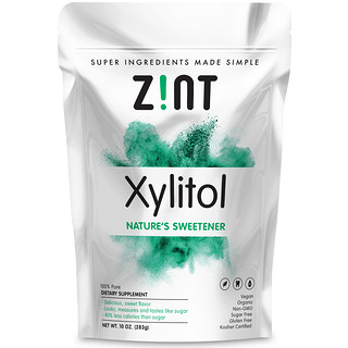Zint, オーガニック・キシリトール、天然の甘味料、10オンス(283g)