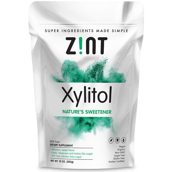 Zint, 有機木糖醇,天然的甜味劑,10盎司(283克)