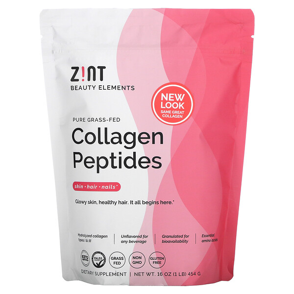 Zint, Pure Grass-Fed Collagen Peptides, Unflavored, 16 oz (454 g)