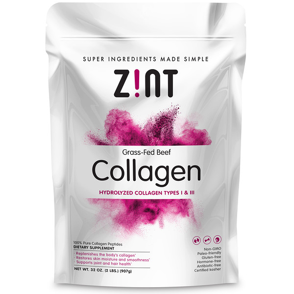 Grass-Fed Beef Collagen, Hydrolyzed Collagen Types I & III, 2 lbs (907 g)