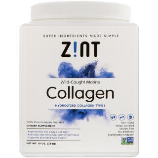 Z!NT, 野生捕獲マリンコラーゲン、加水分解コラーゲンI型、10 oz (283 g)