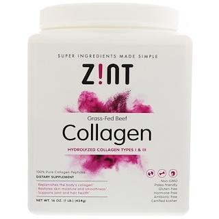 Z!NT, Grass-Fed Beef Collagen, Hydrolyzed Collagen Types I & III, 16 oz (454 g)