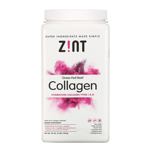 Grass-Fed Beef Collagen, Hydrolyzed Collagen Types I & III, 32 oz (907 g)