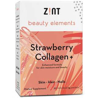 Zint, Strawberry Collagen +, 30 Individual Packets, 5 g Each