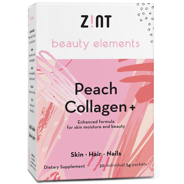 Zint, Peach Collagen +, 30 Individual Packets, 5 g Each