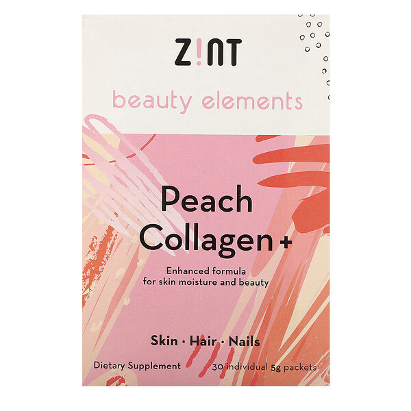 Zint, Peach Collagen +, 30 Individual Packets, 5 g Each (Discontinued Item)