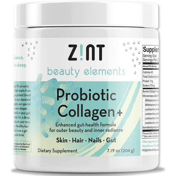 Zint, Probiotic Collagen +, For Skin, Hair, Nails, Gut, 7.19 oz (204 g) (Discontinued Item)