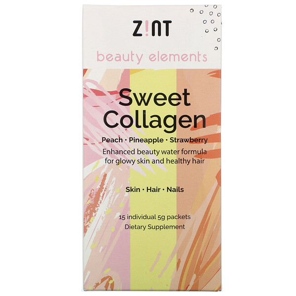 Sweet Collagen, Peach, Pineapple, Strawberry, 15 Individual Packets, 5 g Each