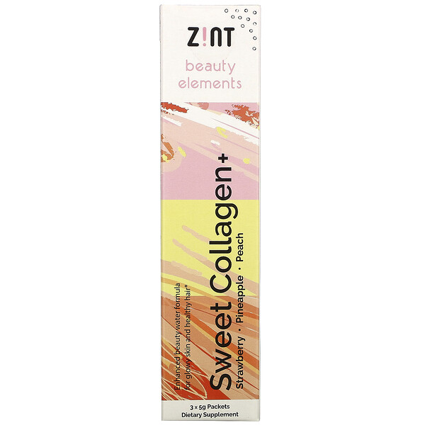 Sweet Collagen, Strawberry, Pineapple, Peach, 3 Individual Packets, 5 g Each