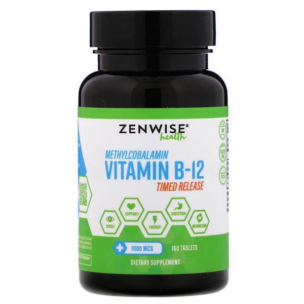 Methylcobalamin Vitamin B-12, Timed Release, 1,000 mcg, 160 Tablets