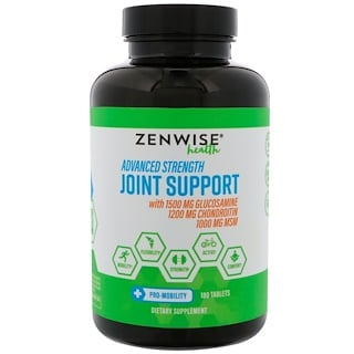Zenwise Health, Advanced Strength Joint Support, 180 Tablets