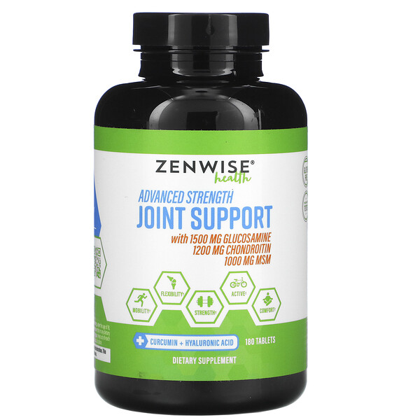 Zenwise Health, معزز المفاصل ذو الفعالية المتطورة، عدد 180 قرصًا
