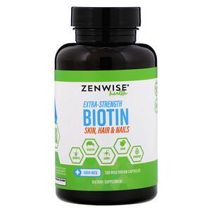 Зенвайз Хэлс, Extra-Strength Biotin, 5,000 mcg, 120 Vegetarian Capsules отзывы