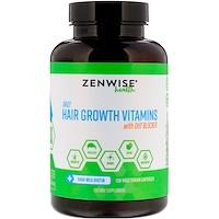 Витамины для роста волос, для ежедневного применения, блокиратор ДГТ, 120 вегетарианских капсул - фото