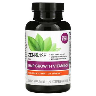 Zenwise Health, Daily Hair Growth Vitamins , 120 Vegetable Capsules