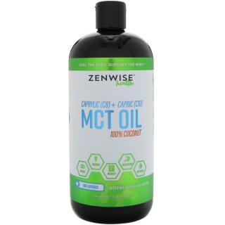 Zenwise Health, MCT Oil, 100% Coconut, C8 Plus C10, Unflavored, 32 fl oz (946 ml)