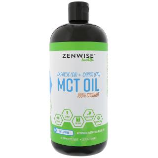 Zenwise Health, Caprylic (C8) + Capric (10) MCT Oil, 100% Coconut, Unflavored, 32 fl oz (946 ml)
