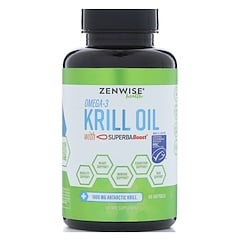 Zenwise Health, Omega 3, Krill Oil with SuperbaBoost, 60 Softgels