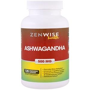 Зенвайз Хэлс, Ashwagandha, 500 mg, 120 Veggie Caps отзывы