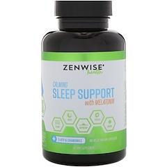 Zenwise Health, Поддержка спокойного сна с помощью мелатонина, 60 вегетарианских капсул