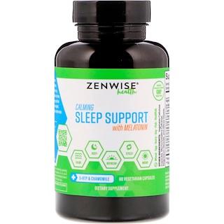 Zenwise Health, カーミング スリープ サポート(メラトニン配合)、60ベジタリアンカプセル