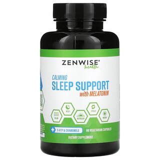 Zenwise Health, Добавка для улучшения качества сна с мелатонином, 60вегетарианских капсул